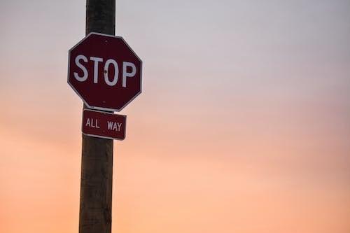 Δωρεάν στοκ φωτογραφιών με stop, απόγευμα, γραφικός, δύση του ηλίου