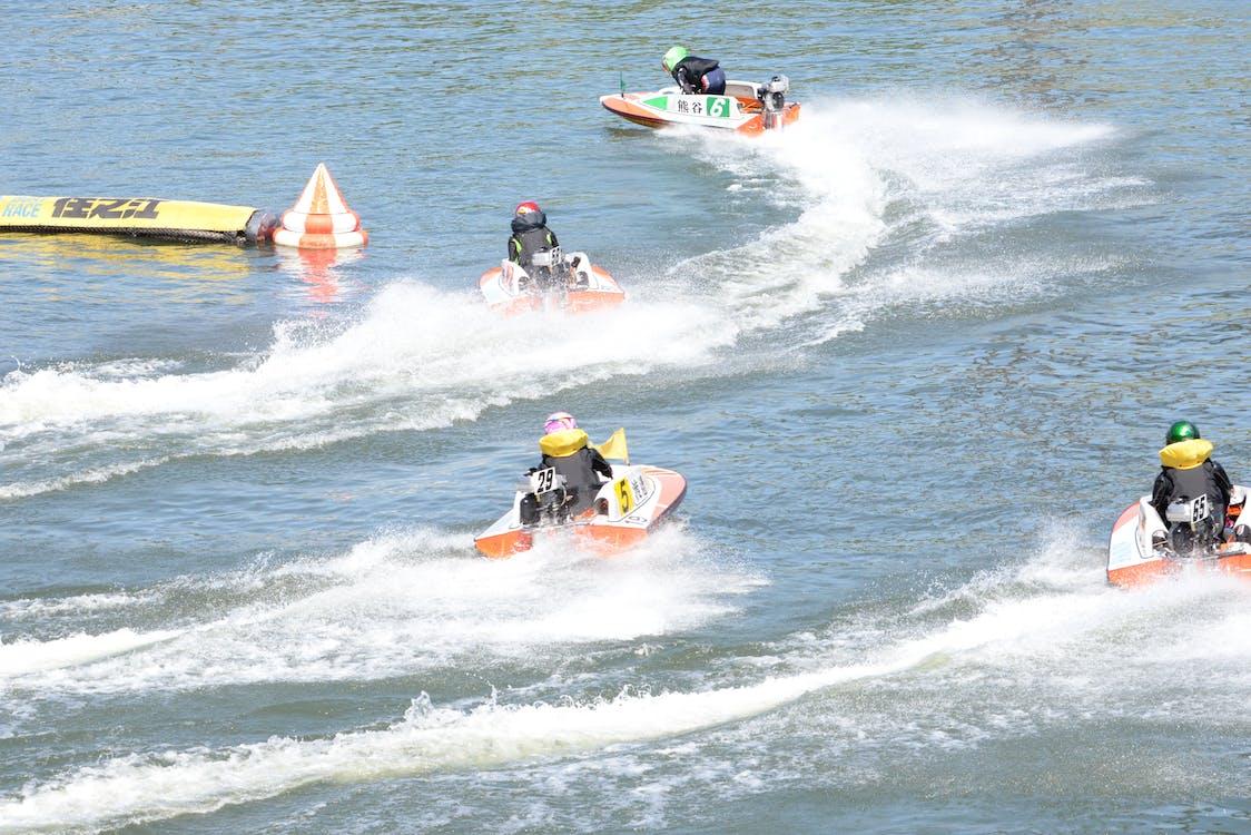 Foto stok gratis balap perahu
