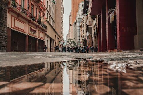 คลังภาพถ่ายฟรี ของ คน, ตึก, ถนน, เมือง