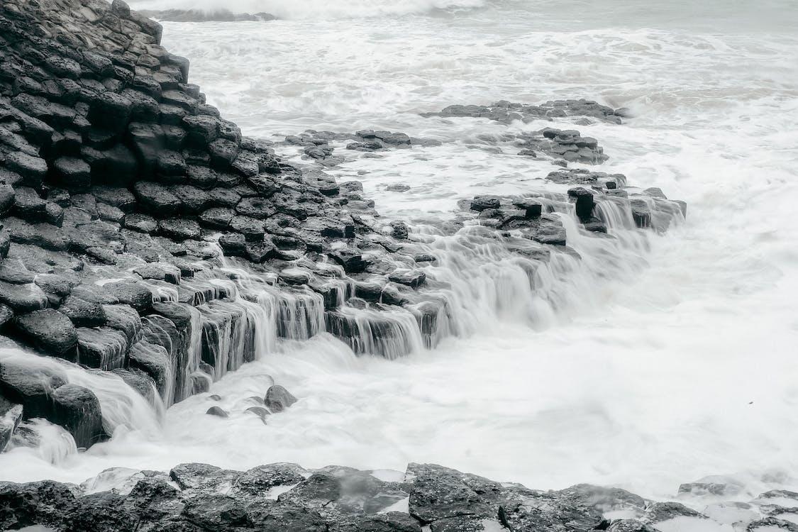 bờ biển, cảnh biển, đá