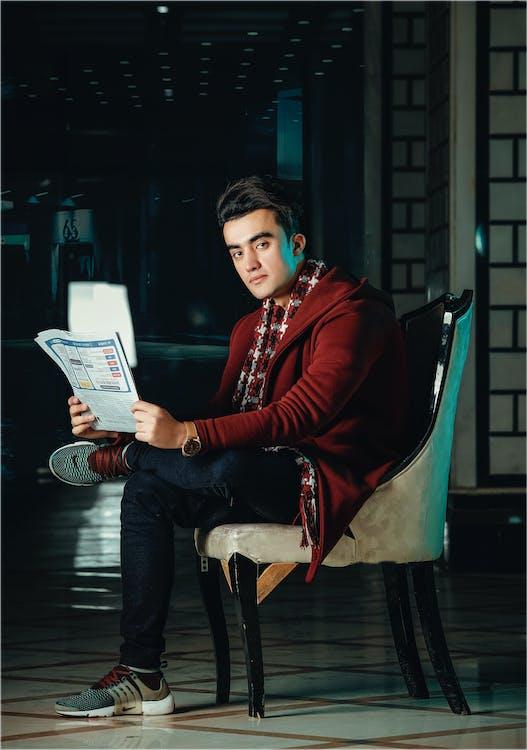 chłopak, czasopismo, fotografia mody
