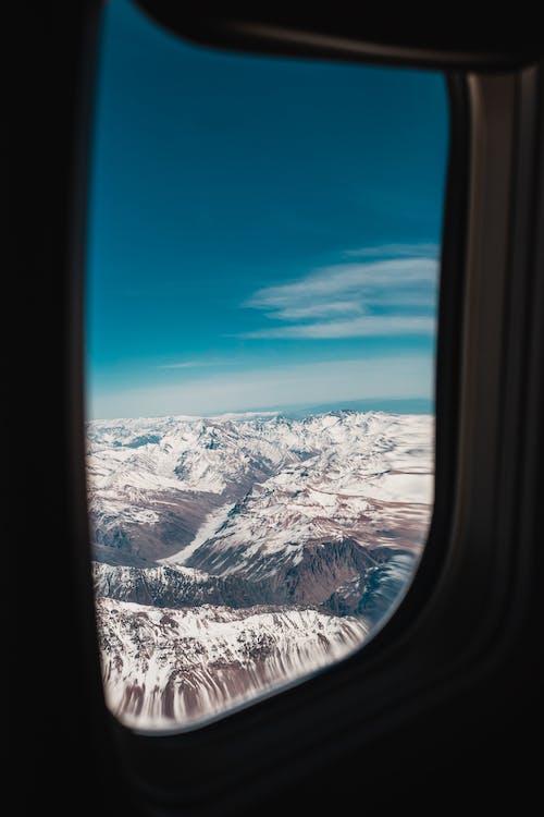 Gratis stockfoto met antenne, bergen, bevroren, fel