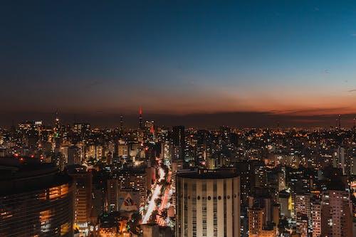 Ingyenes stockfotó ég, építészet, épületek, este témában