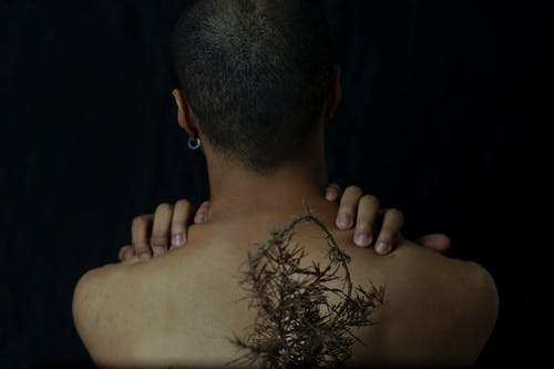 Woman With Plant on Back