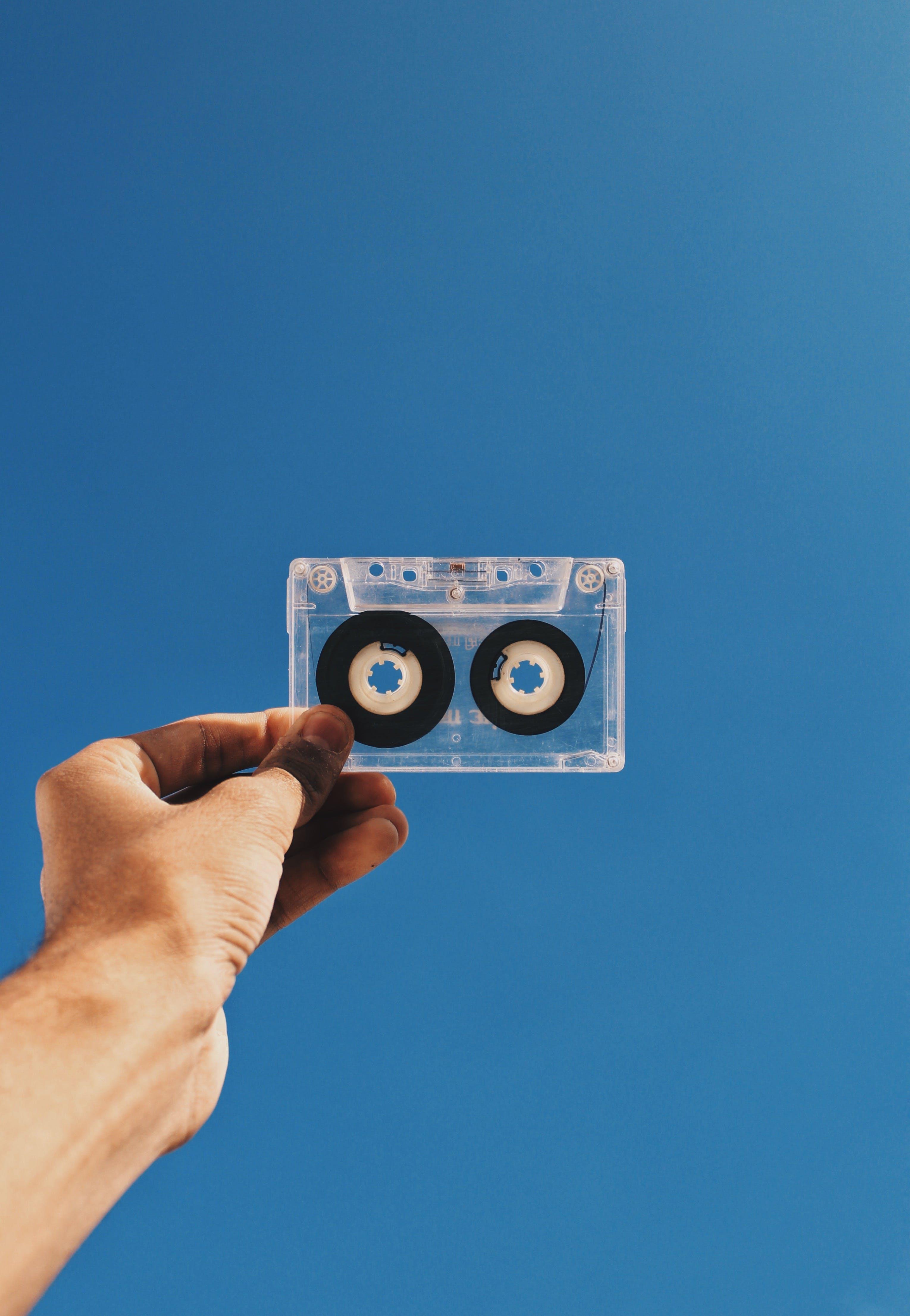 卡帶, 唱片, 手, 技術 的 免費圖庫相片