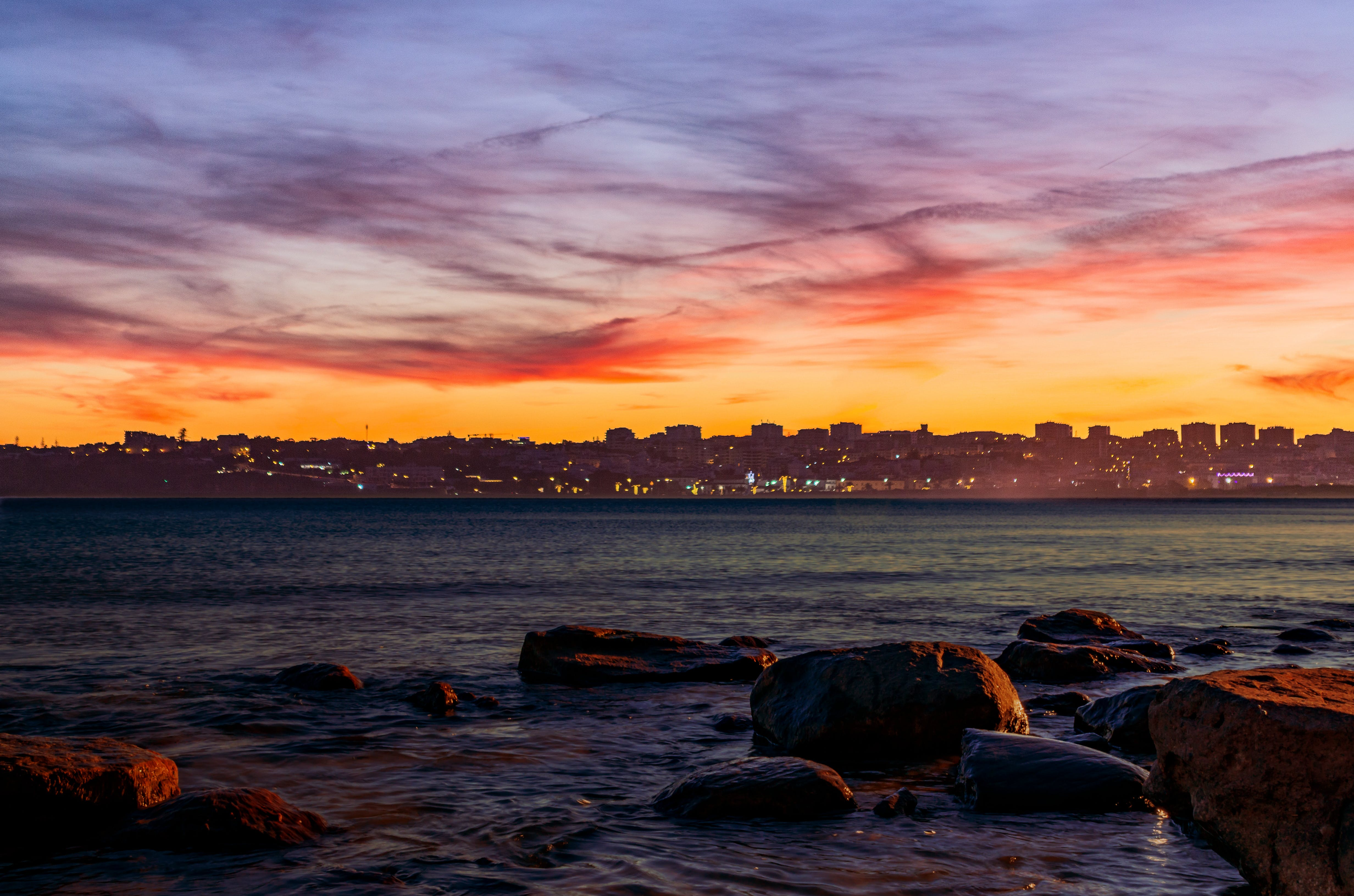 Free stock photo of beach, city, clouds, colorful