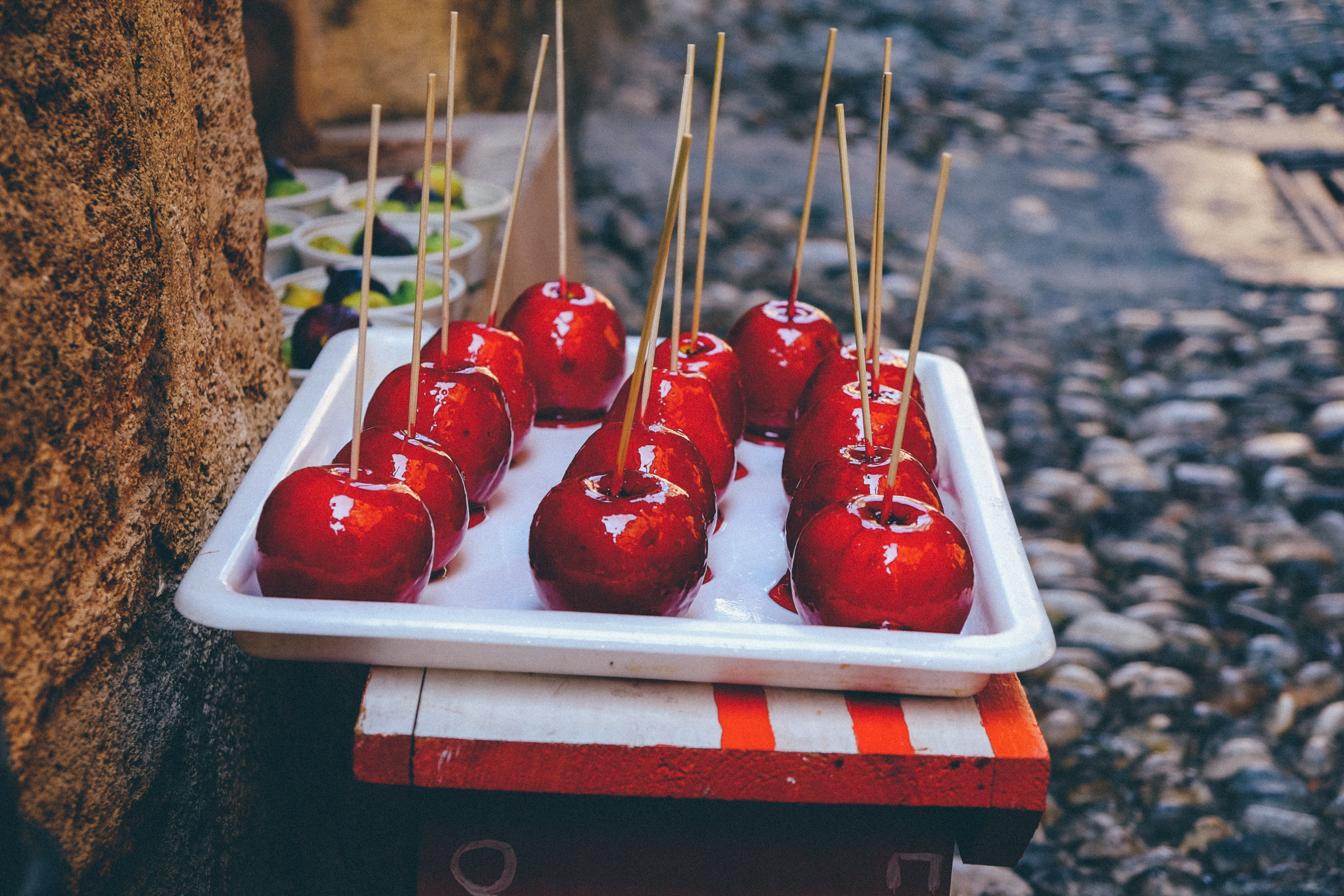Tray Of Candy Apples