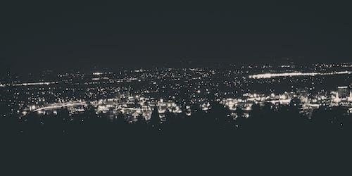 Imagine de stoc gratuită din noapte de oraș, peisaj urban