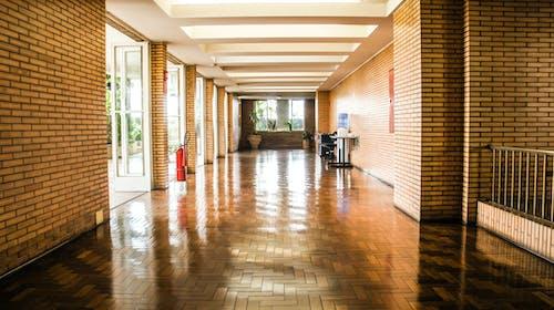 Бесплатное стоковое фото с архитектура, блестящий, в помещении, дверь