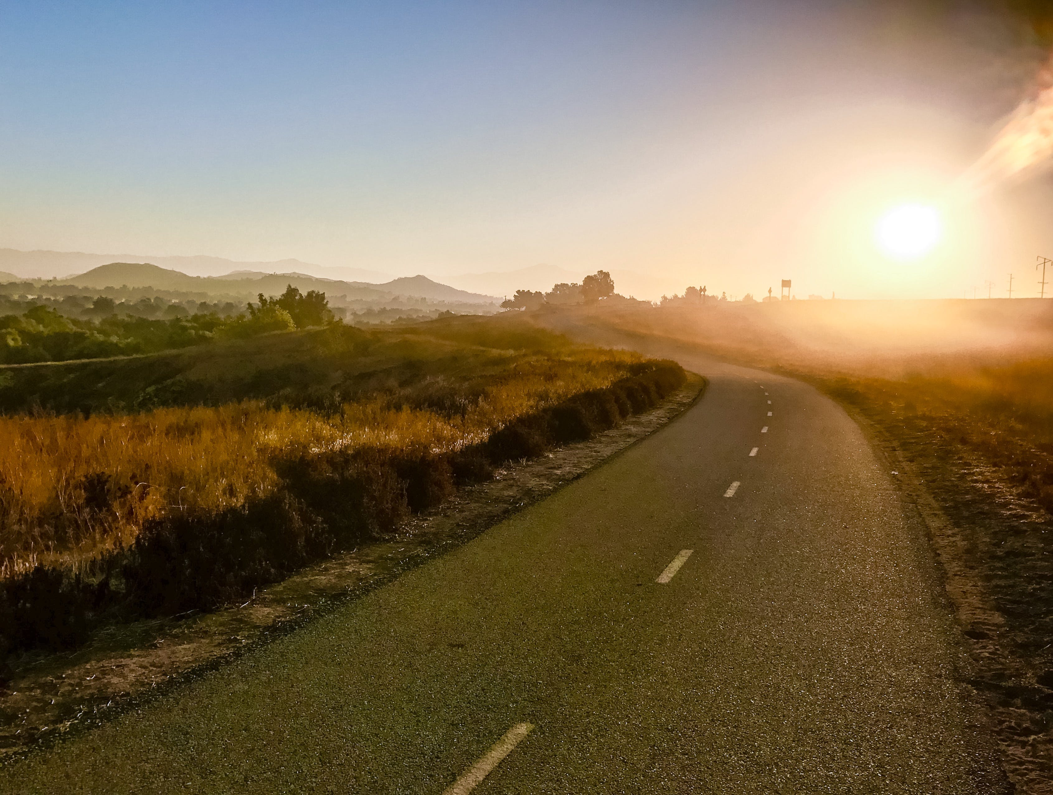 Free stock photo of bike path, country road, early morning, foot path