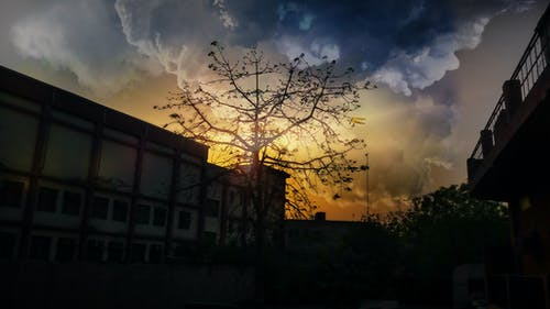 its學院, 多雲的天空, 建築物上方的天空, 晚間 的 免費圖庫相片
