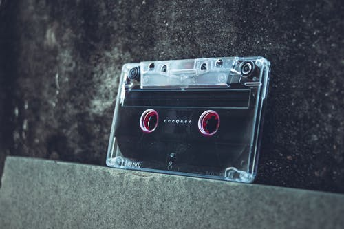 Cassette Tape On Concrete Surface