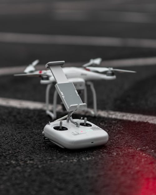 Selective Focus Photography of Quadcopter Remote