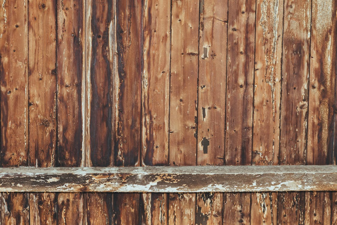 bruin, hek, houten