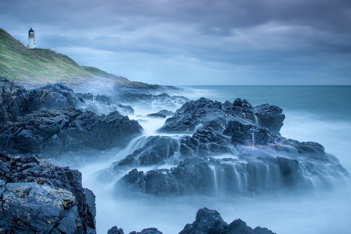Δωρεάν στοκ φωτογραφιών με ακτή, βράχια, γνέφω