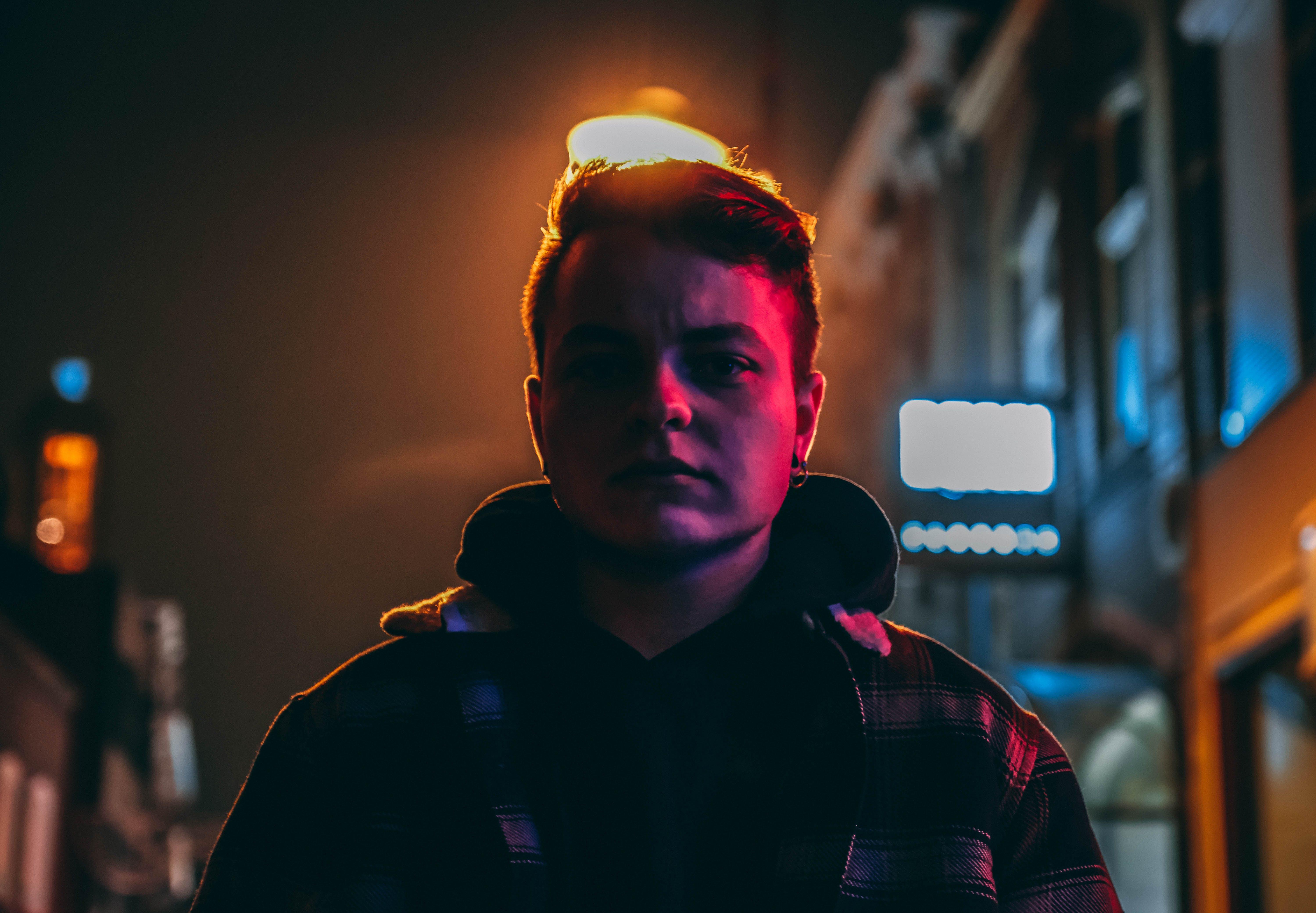 Free stock photo of back light, boy, dark, hair