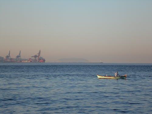 낚시, 낚싯배, 바다, 일출의 무료 스톡 사진