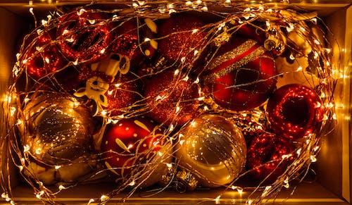Kostenloses Stock Foto zu dekor, feier, flitter, gold