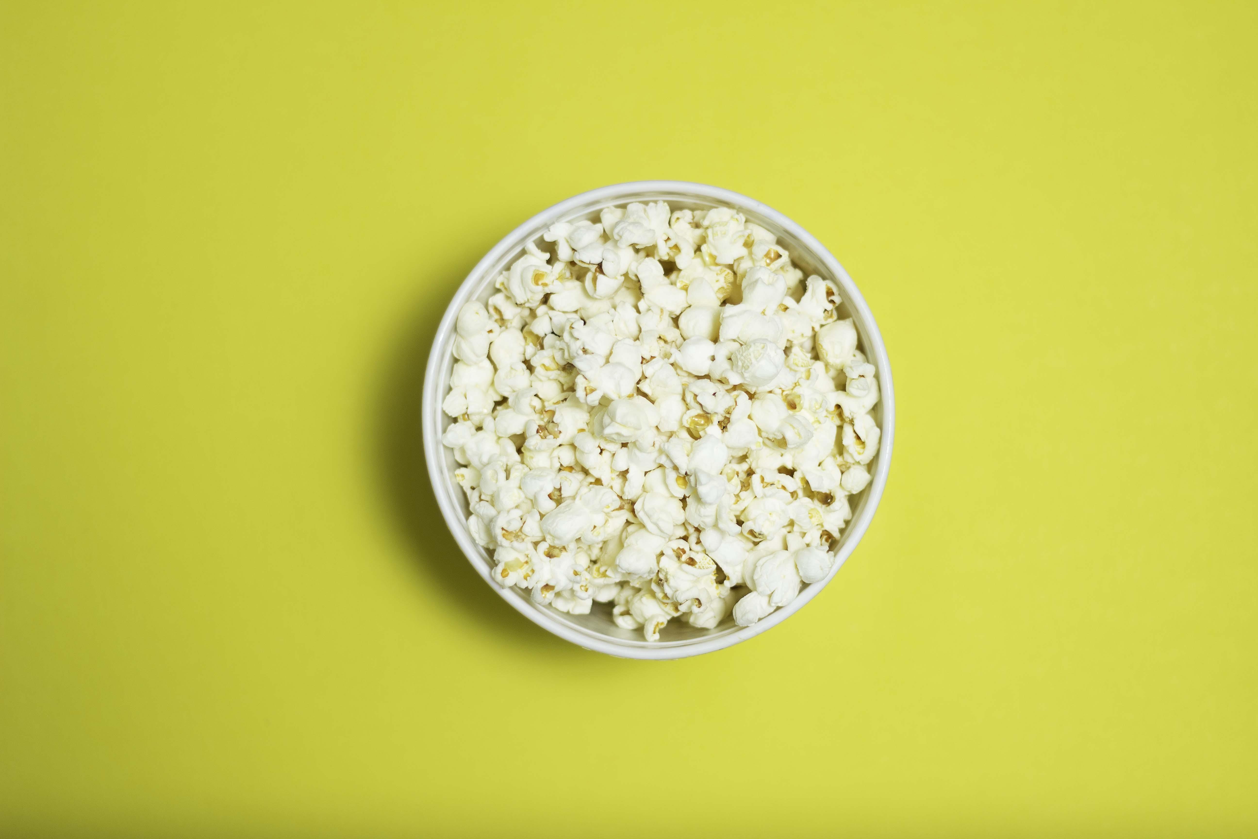 Kostenloses Stock Foto zu köstlich, popcorn, schüssel, snack