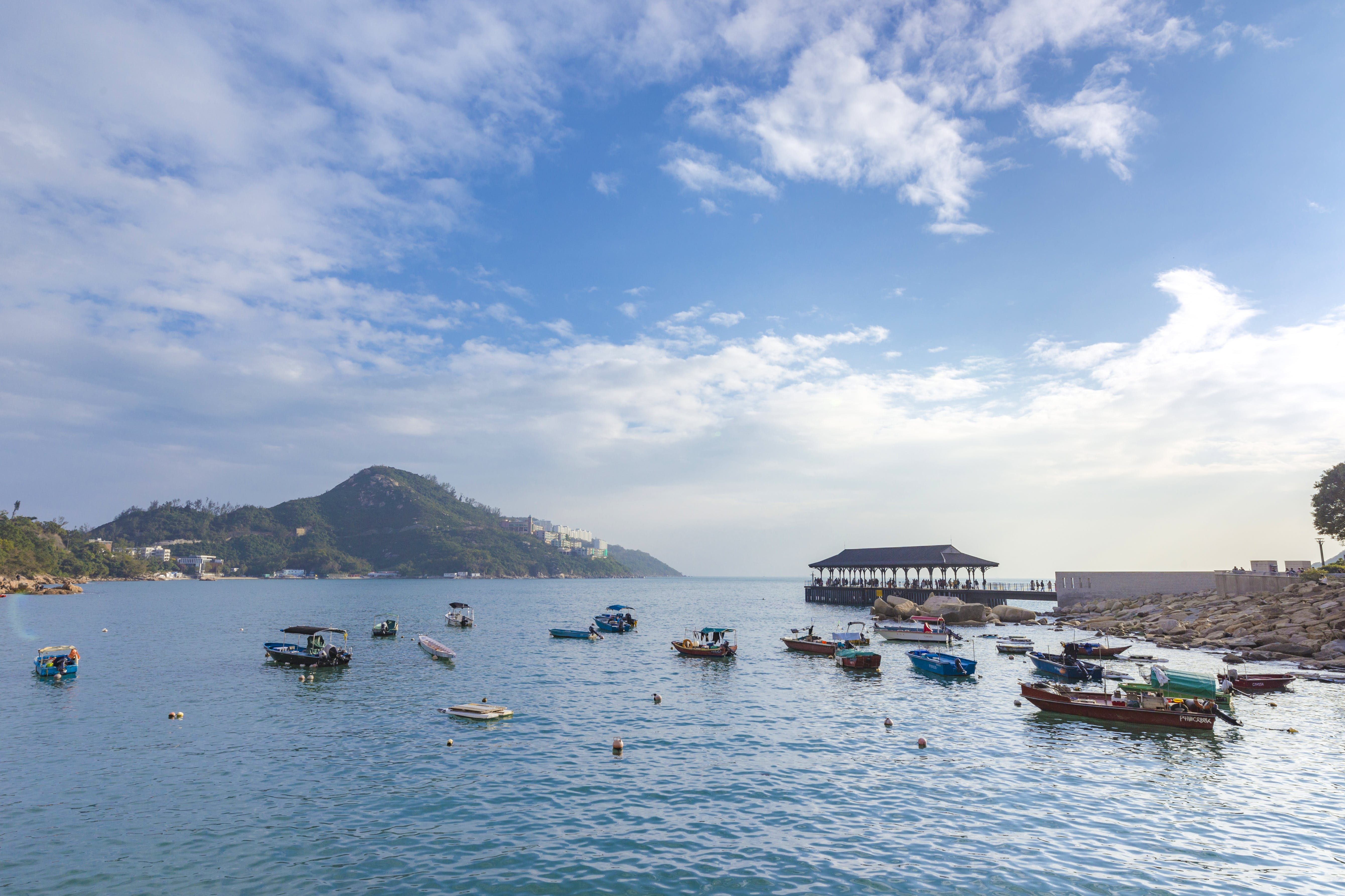 Free stock photo of boats, harbour, hong kong, ocean