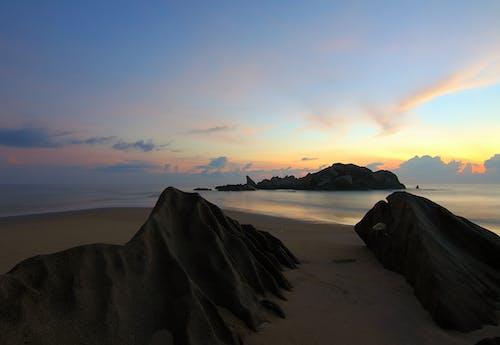 คลังภาพถ่ายฟรี ของ ชายทะเล, ชายหาด, ตะวันลับฟ้า, ทราย