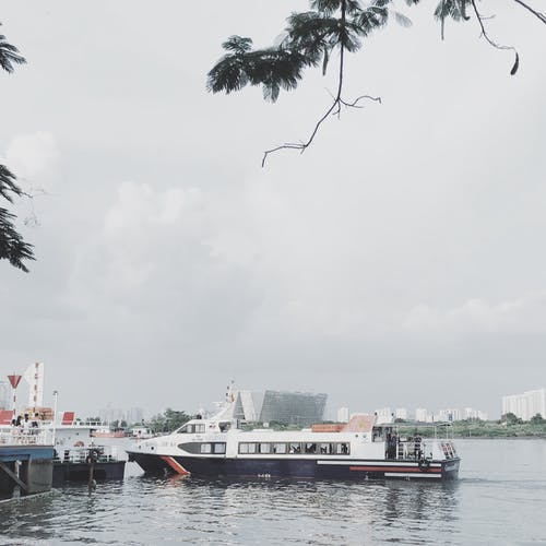 Free stock photo of boat, boat station, bridge, city