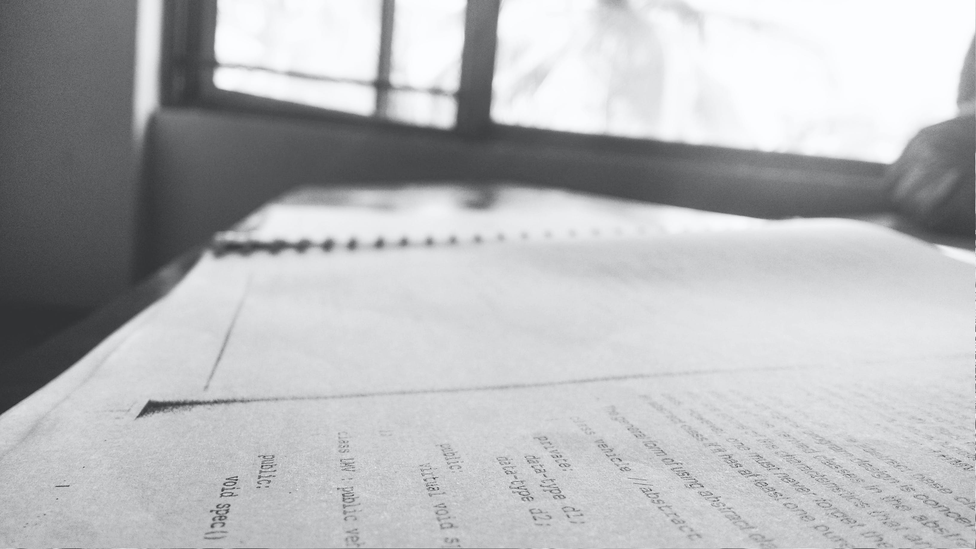 Free stock photo of background, black and white, books, college