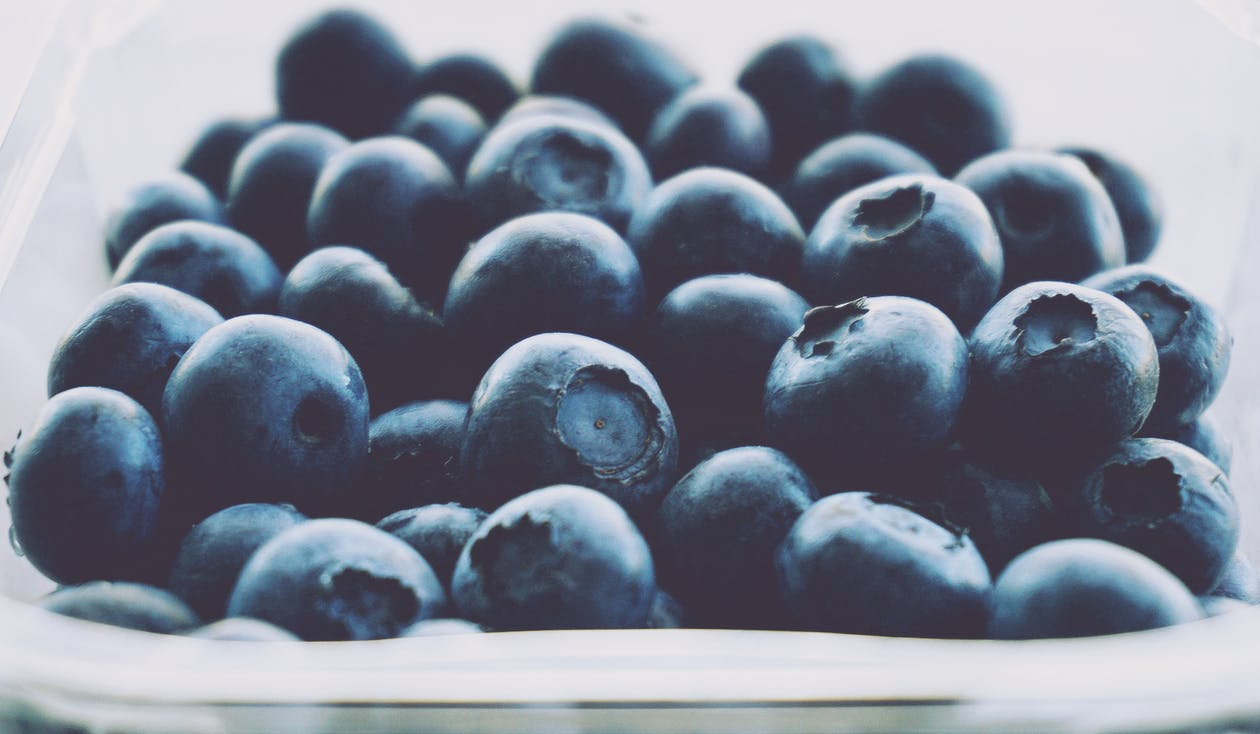 Close-up Photo of Blueberries