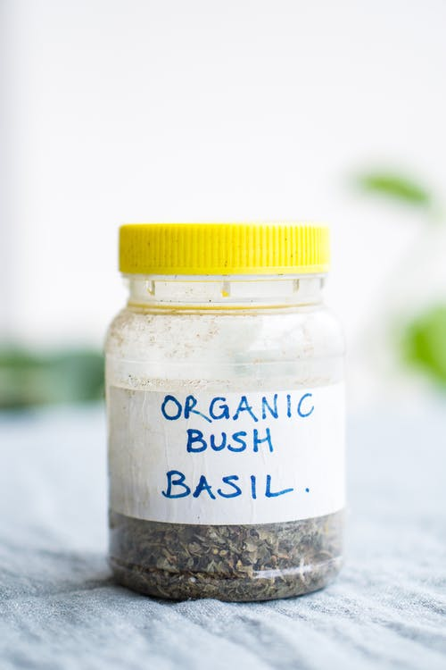 Organic Bush Basil Jar