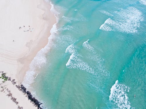 Ảnh lưu trữ miễn phí về bãi cát, bắn góc cao, biển, bờ biển