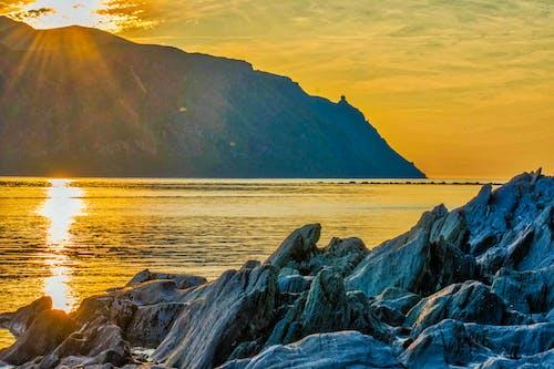 Základová fotografie zdarma na téma břidlice, skalnatý, západ slunce
