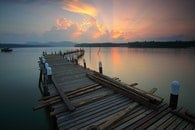 jetty, dawn, landscape