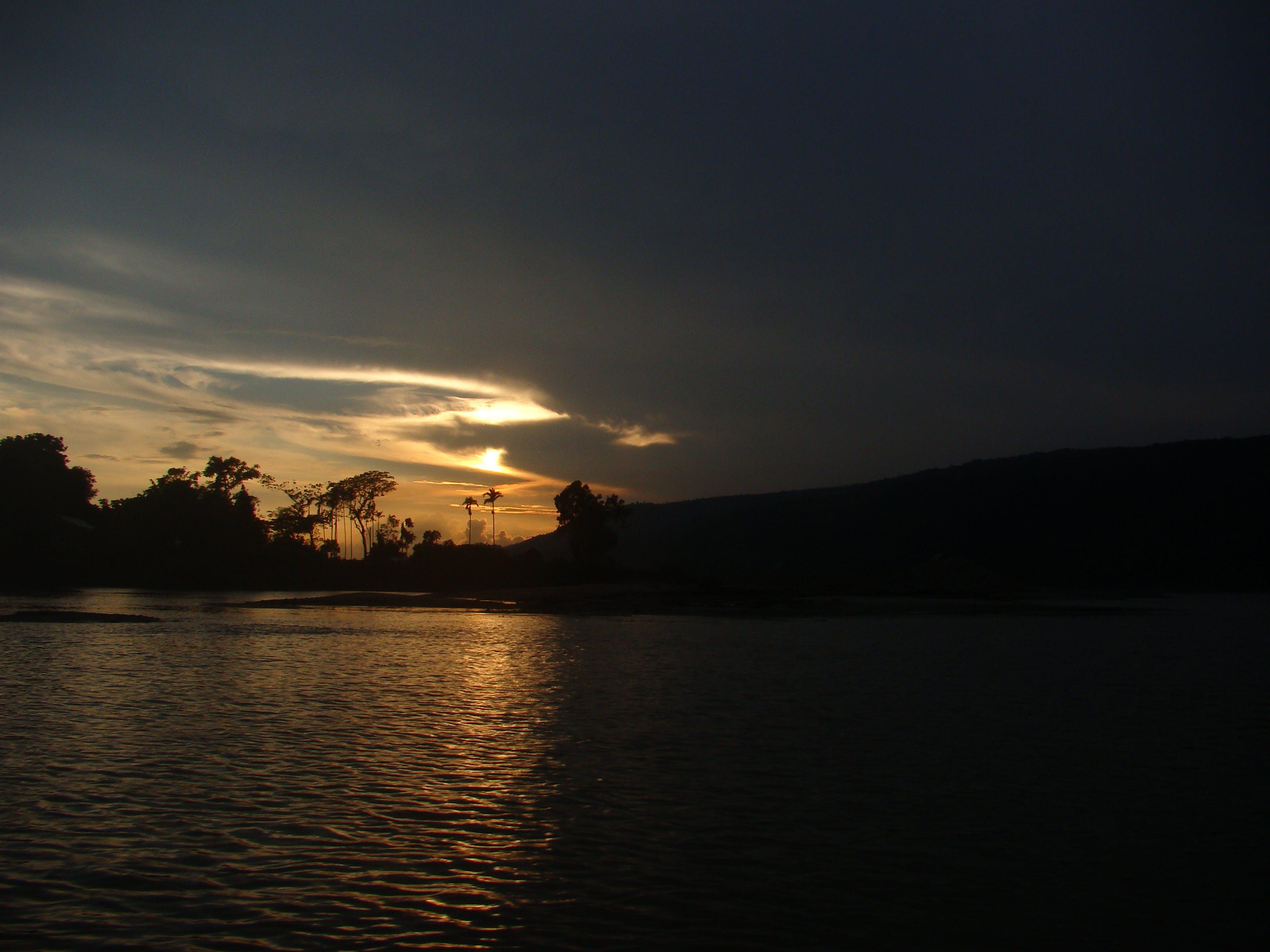 Free stock photo of sunset