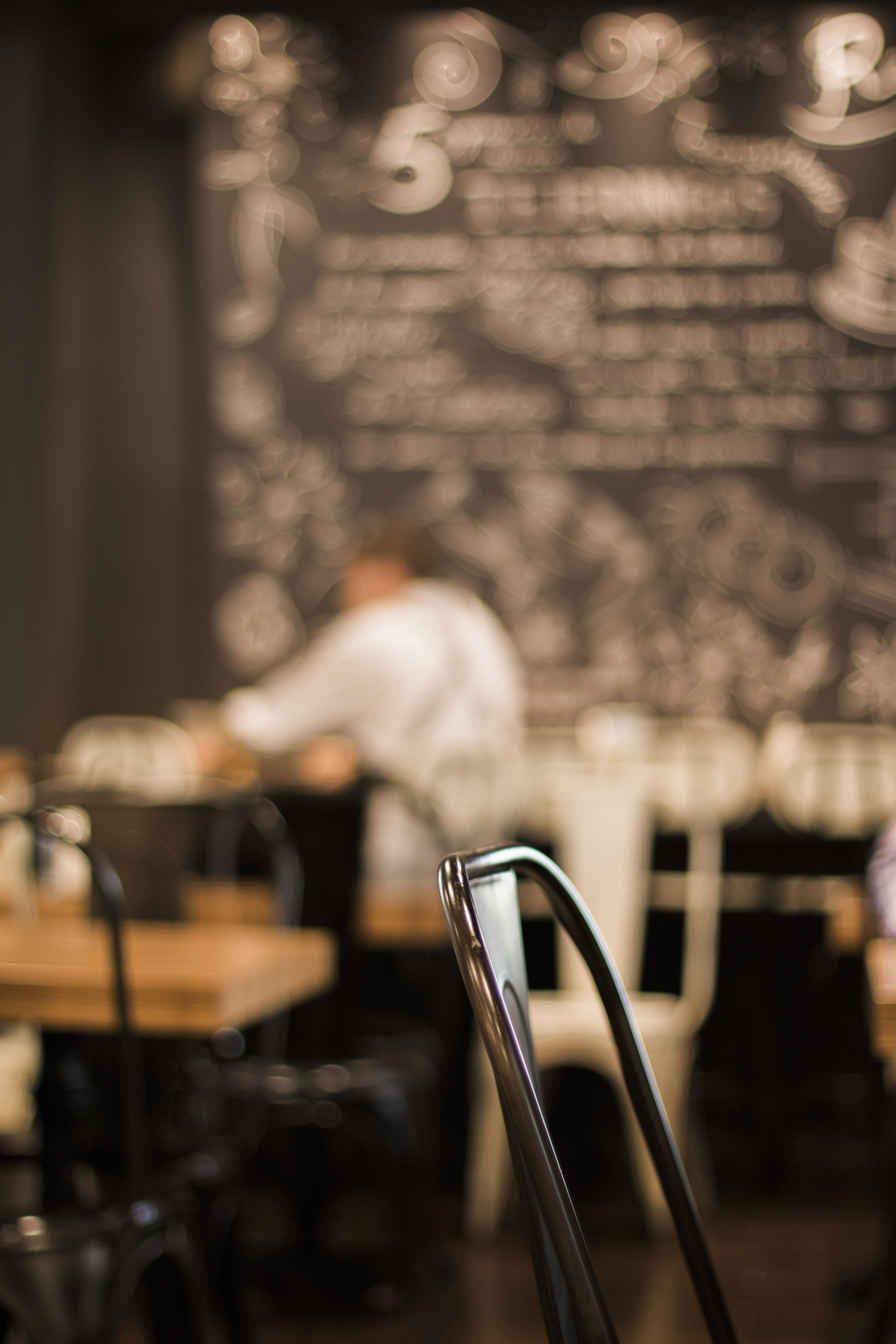 Blur Shot Of A Person In A Restaurant