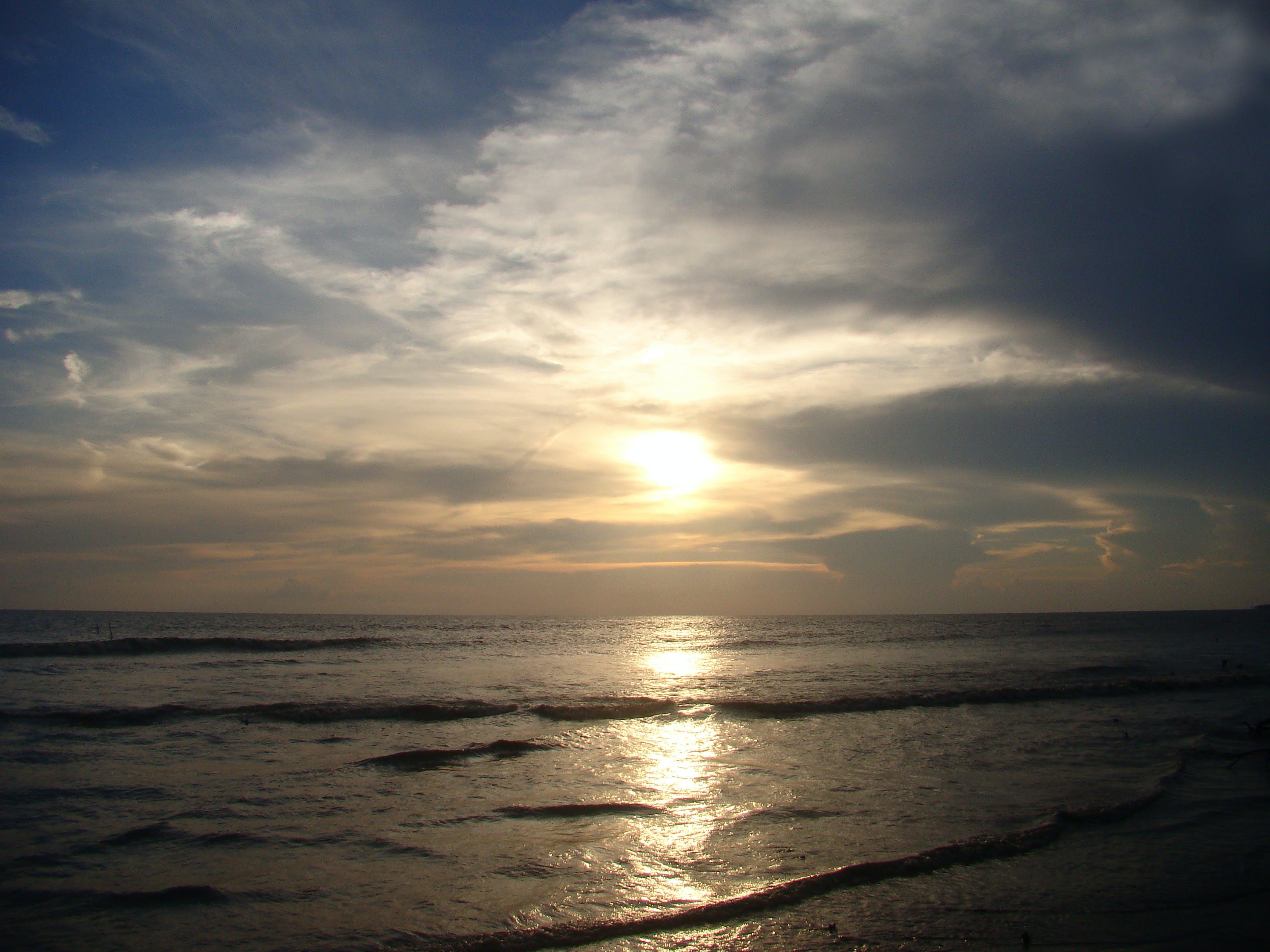 beach, ocean, sunset