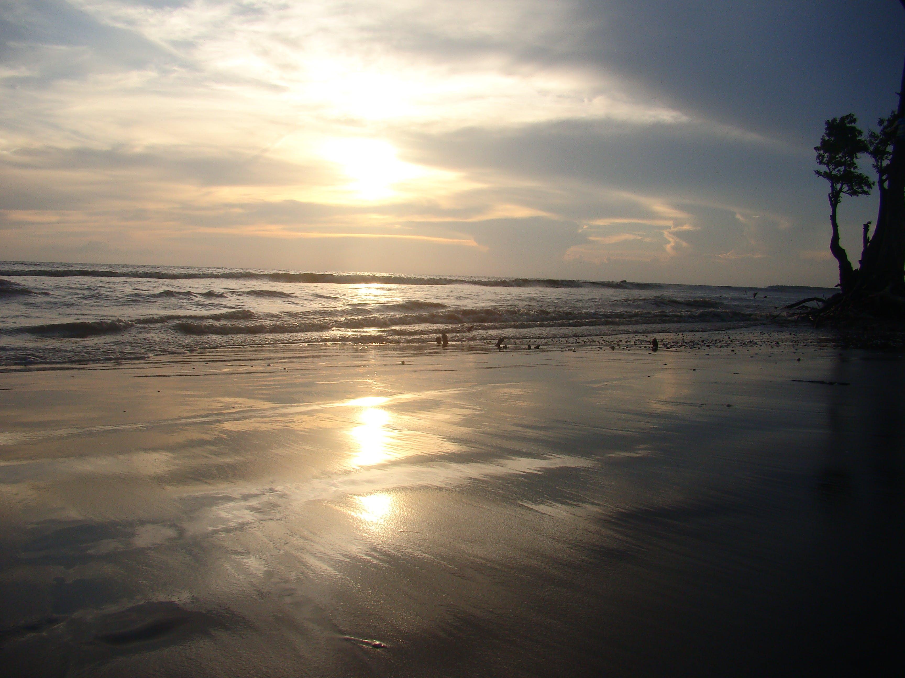 Free stock photo of beach, ocean, sunset, texture