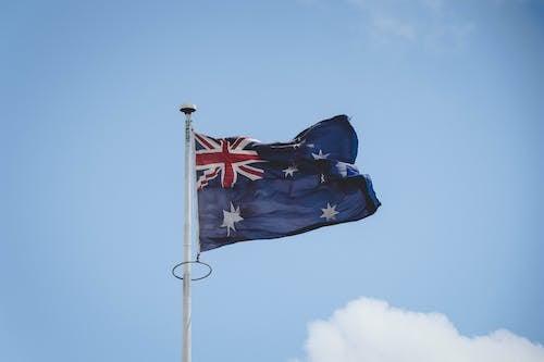 Foto profissional grátis de administração, bandeira da austrália, céu, céu azul