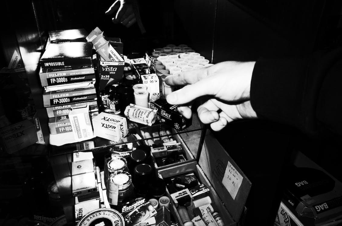 Ảnh lưu trữ miễn phí về 35mm, cuộn phim, đen và trắng