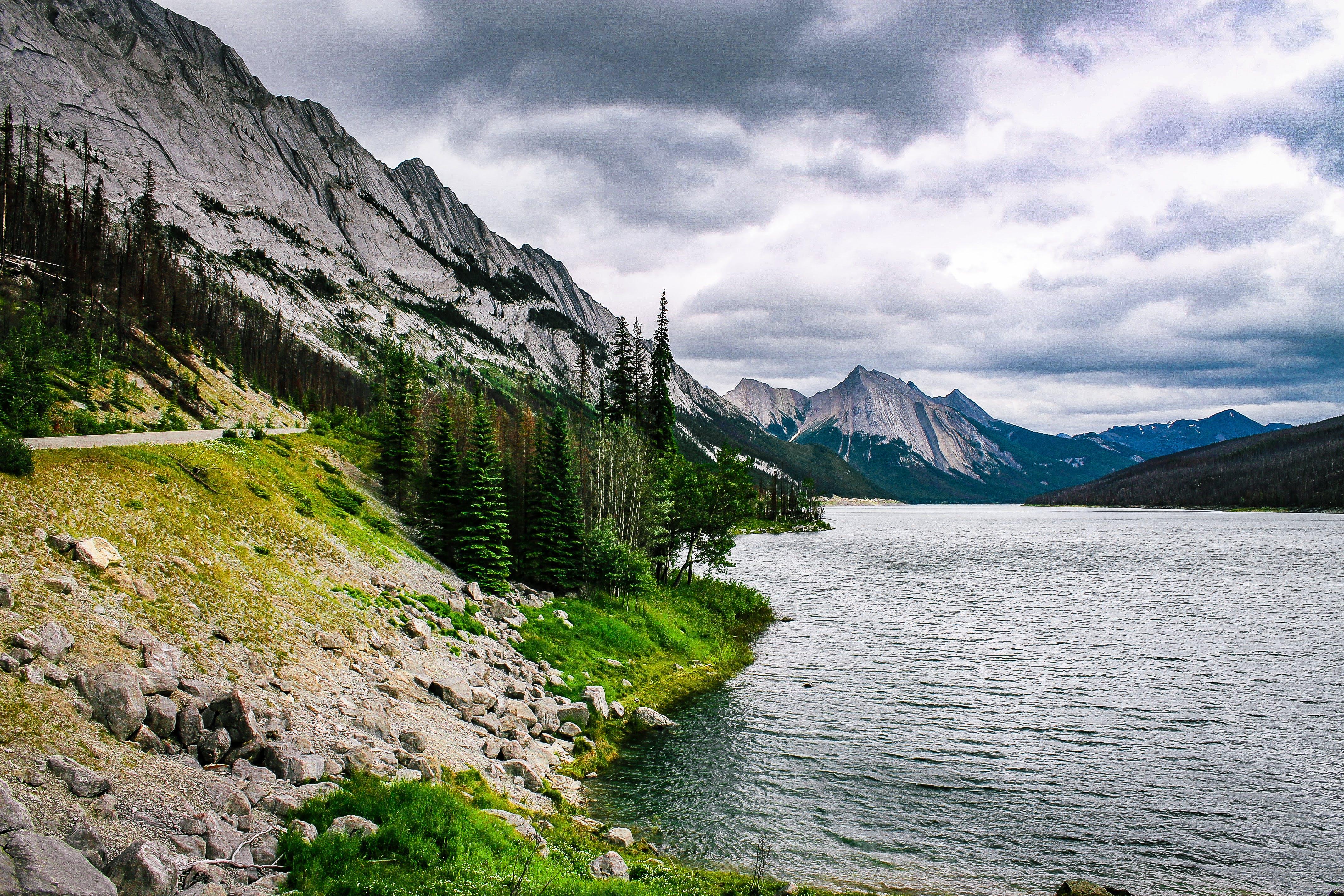 air, alam, berbatu