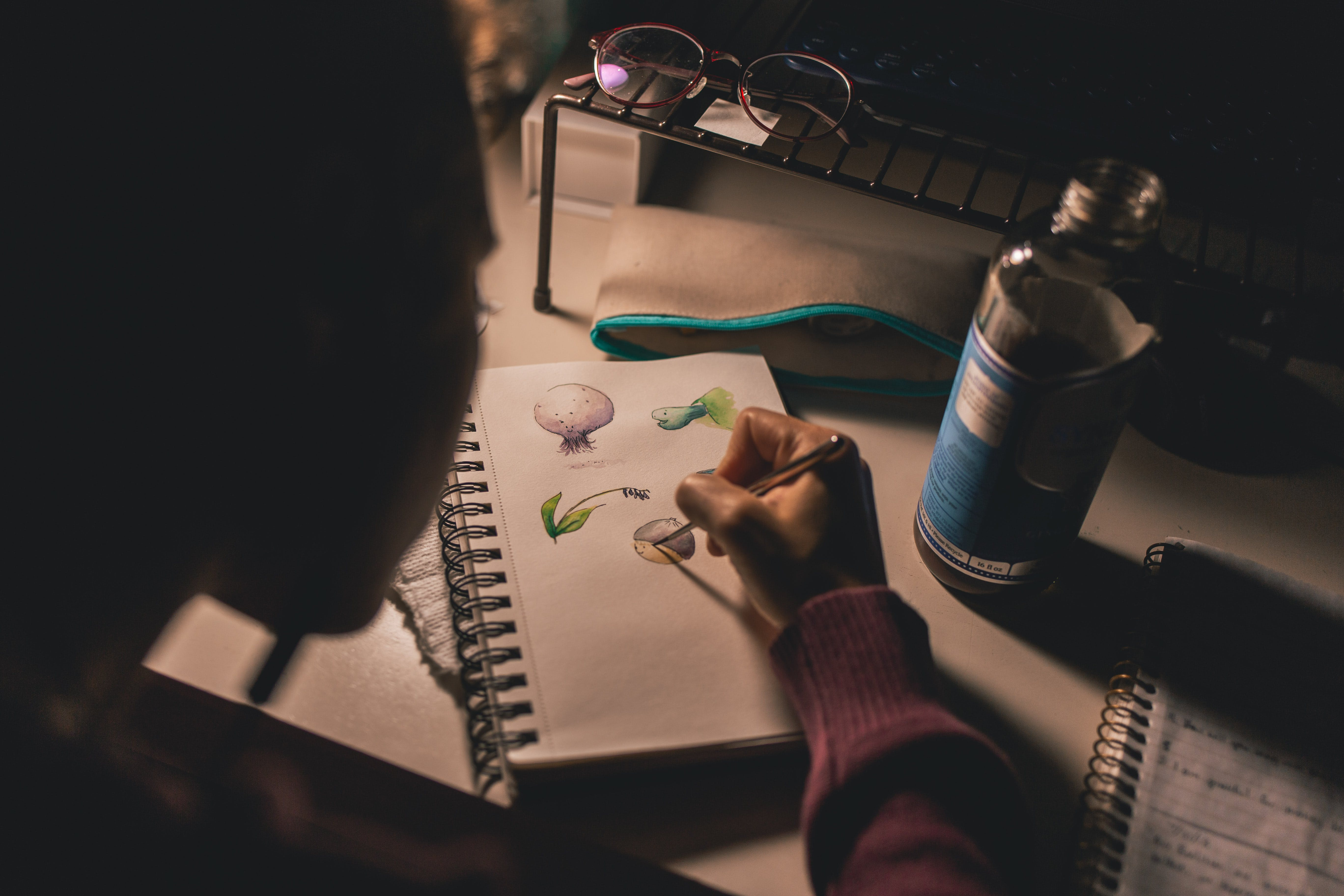 Gratis lagerfoto af blyant, borrle, briller, close-up