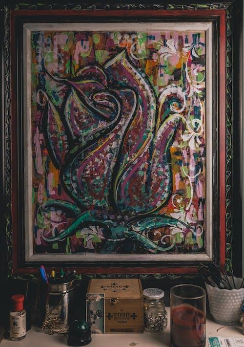Gratis lagerfoto af abstrakt maleri, akryl, akrylmaling, akvarel