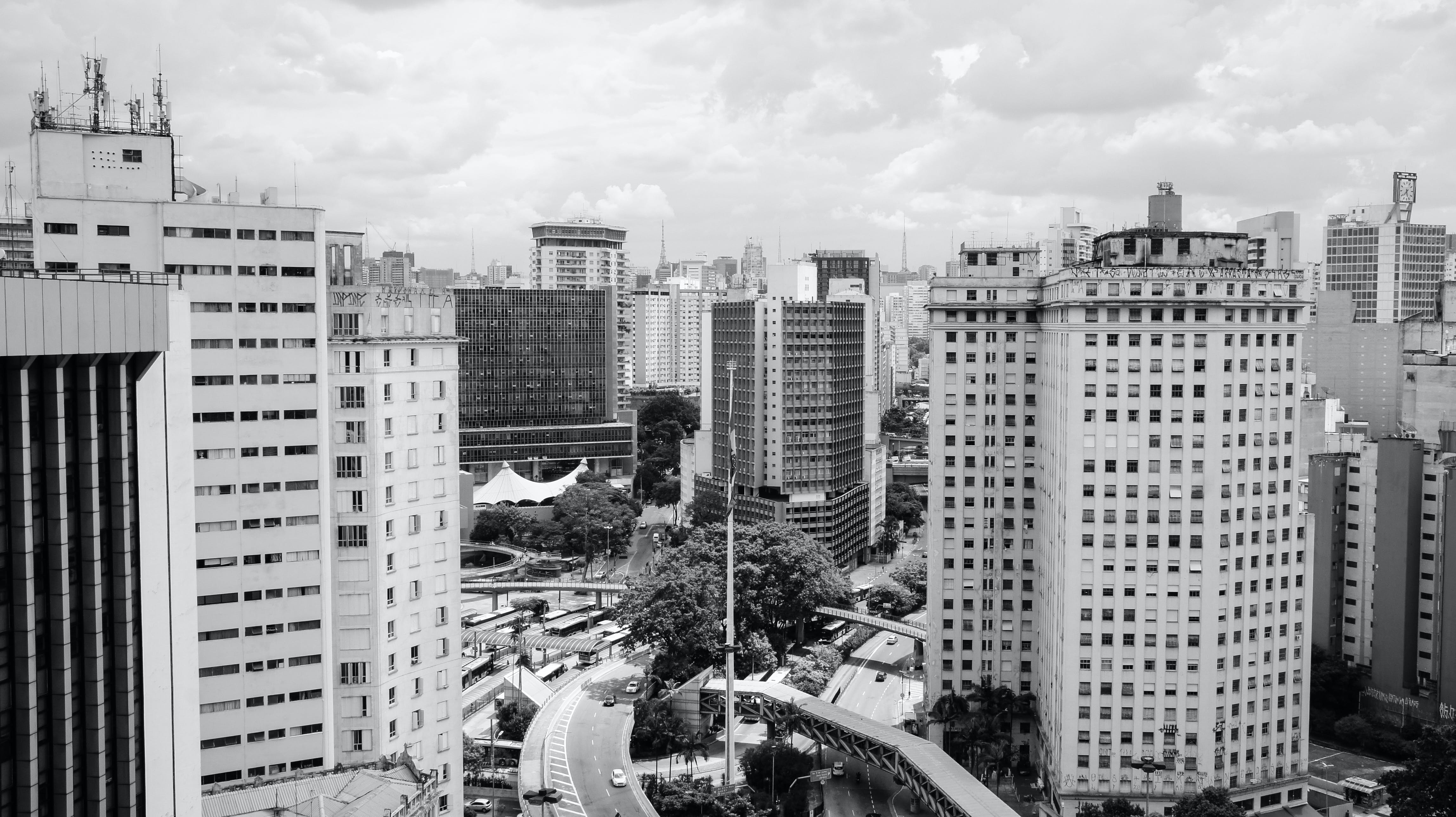 Free stock photo of apartment building, black and white, black white, building