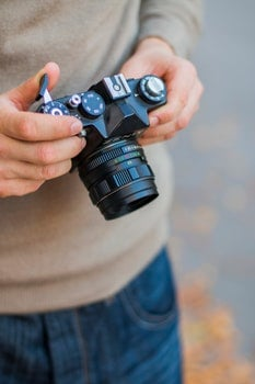 Free stock photo of camera, photographer, analog camera, dslr