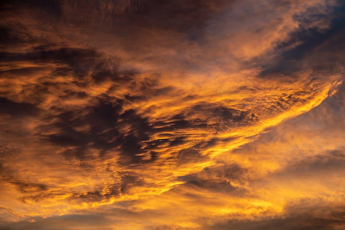 bouře, denní světlo, dramatický