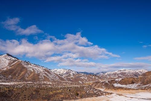 Kostenloses Stock Foto zu abenteuer, berg, blau, dämmerung