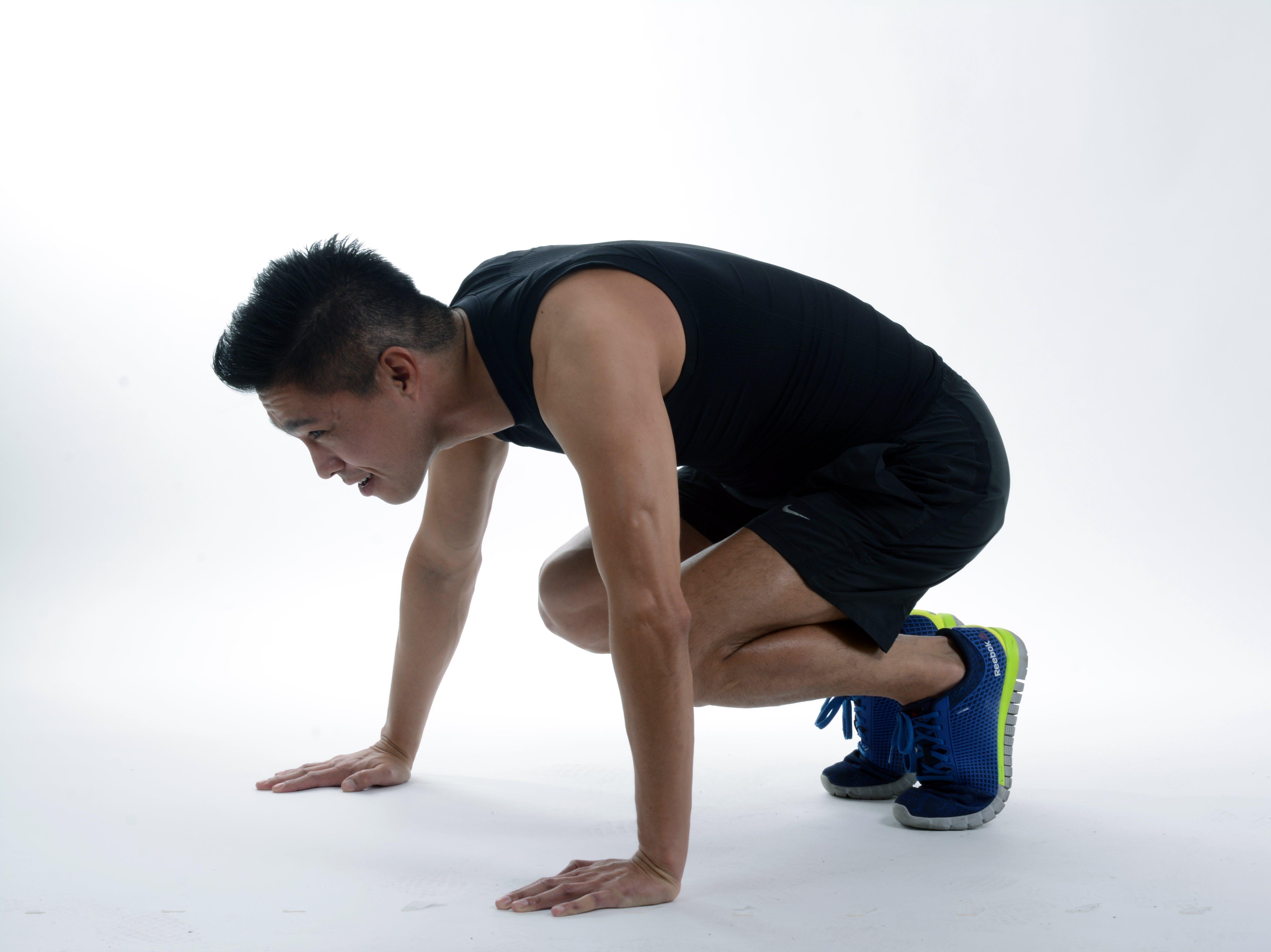 Kostenloses Stock Foto zu burpee, fitness, hochdrücken, keiji