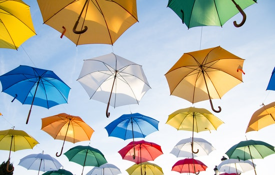 Free stock photo of flying, art, HD wallpaper, umbrellas