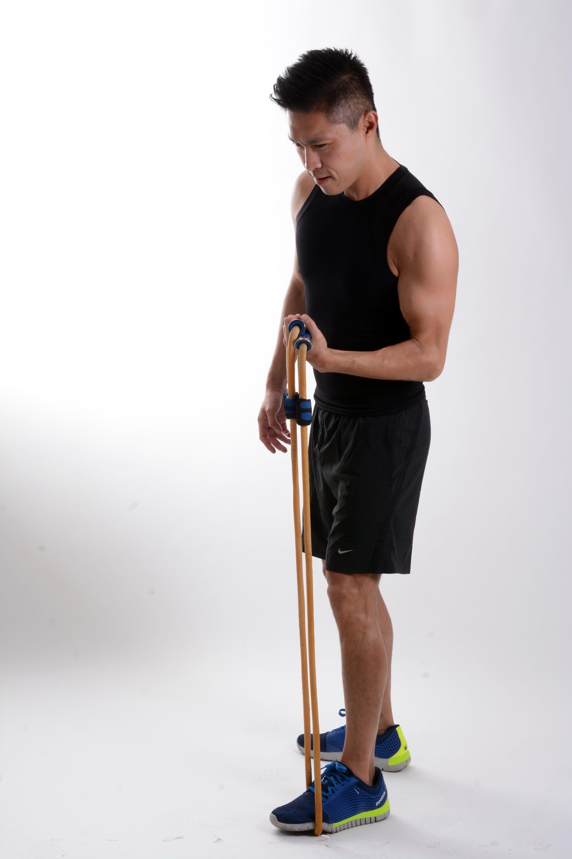 Kostenloses Stock Foto zu arme, Übungsbänder, bizeps, fitness