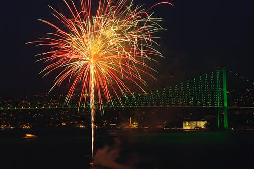 Photos gratuites de brillant, feux d'artifice, Istanbul, le bosphore