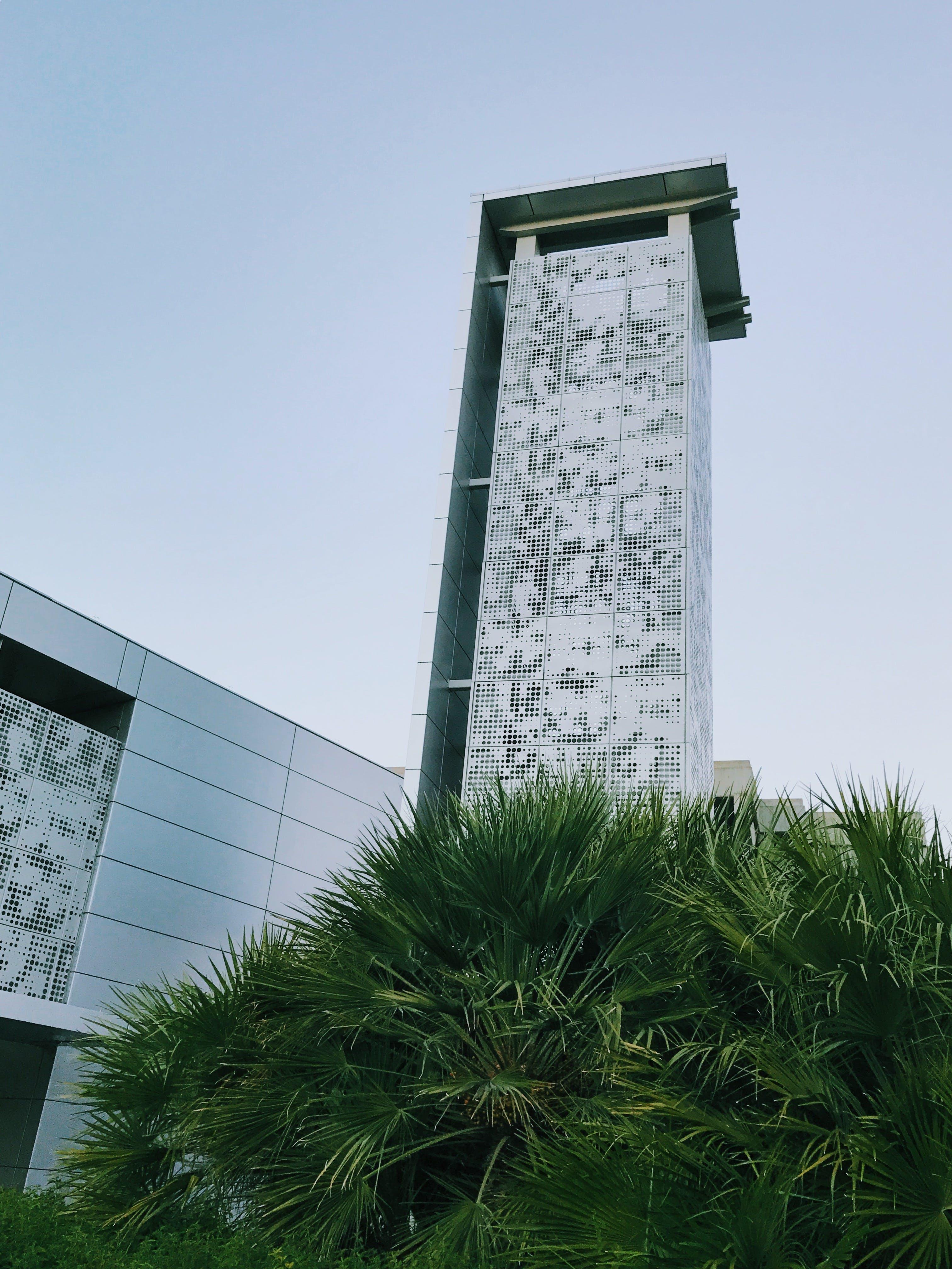 Free stock photo of architecture, blue, building, bush